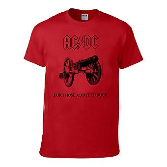 Ac/Dc For Those About To Rock Kids Red Barn T-Shirt