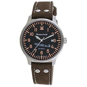 Aristo Men's Messerschmitt Watch Pilot's Watch BF109E-3 Leather