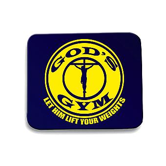 Navy navy fun1590 god s gym mouse pad