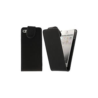 Black Cover Vertical Opening Magnetized For IPhone 5