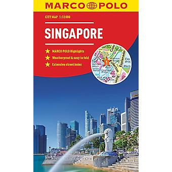Singapore Marco Polo City Map  pocket size easy fold Sing