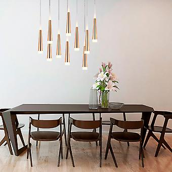 COMET 10 Mini Pendant Lighting Brass - LED Hanging Light Fixture