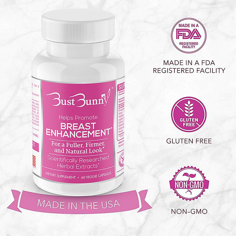Bust Bunny Breast Enhancement supplement 1 Month Supply
