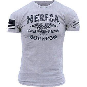 グラントスタイル メリカバーボントレードマークTシャツ - ヘザーグレー