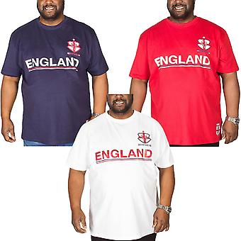 Duke D555 Mens Leon Short Sleeve Crew Neck England Football T-Shirt Top Tee