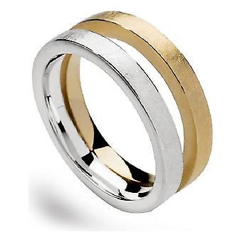 bastian inverun - 925 Silberring, teilvergoldet, kratzmatt - 22790 (17.8mm)