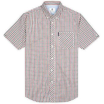 Ben Sherman Signature House Check Korte Mouw Shirt - Rood / Marine / Wit