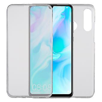 Huawei P30 lite New Edition tapauksessa 360 puhelimen suojakotelo kattaa koko TPU tapauksessa läpinäkyvä