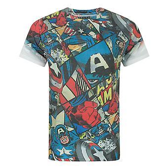 Captain America Comic Sublimation Men-apos;s T-Shirt