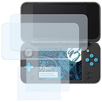 Bruni 2x Skärmskydd kompatibel med Nintendo New 2DS XL Skyddsfilm
