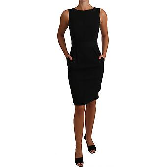 Dolce & Gabbana Black Lbd Coctail Potlood schede jurk