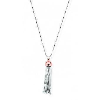 ChloBo Diamond Cut Chain With Rose Gold Tassel Pendant