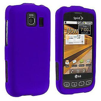 Reiko Rubberized Case for LG Optimus S LS670 - Purple