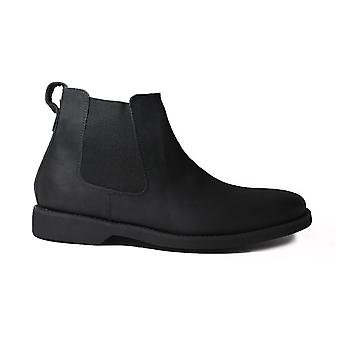Anatomic Cardoso Black Waxy Leather Mens Pull On Chelsea Boots