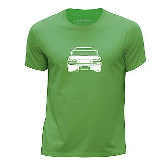 STUFF4 Boy's Round Neck T-Shirt/Stencil Car Art / Impreza 22B/Green