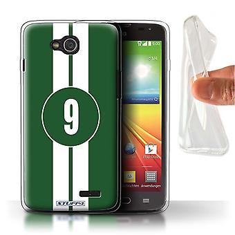 STUFF4 Gel TPU Case/Cover for LG L90/D405/Jaguar/Green/Racing Car Stripes