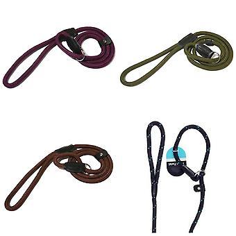 Rosewood Rope Twist Dog Slip Lead