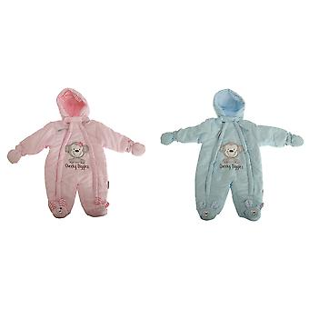 Nursery Time Baby Boys/Girls Cheeky Giggles All In One Hooded Winter Snowsuit