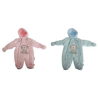 Vivero tiempo bebé niños/niñas Cheeky ríe todo en uno con capucha invierno Buki