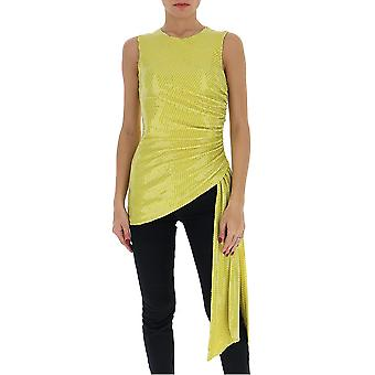 Amen Ams20229320 Femmes-apos;s Yellow Polyester Top