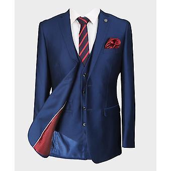 Paul Andrew Mens & Boys Sheen Effect Royal Blue Wedding 3 Piece Suit