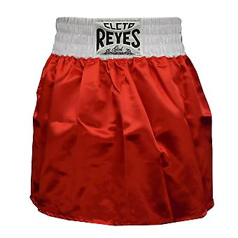 Cleto Reyes Women's Satin Boxing Skirt Trunks - Red/White
