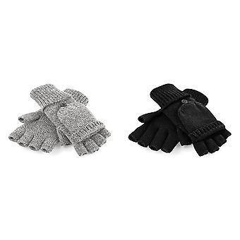 Beechfield adultos Unisex Fliptop de punto guantes de invierno
