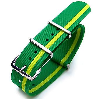 Strapcode n.a.t.o watch strap 20mm or 22mm nato brazil special edition polished (brazil flag design)
