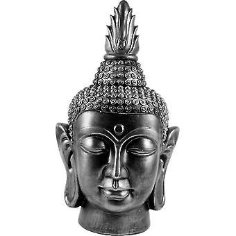 Buda Cabeça preta / prata h40