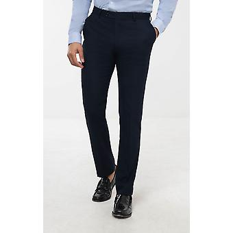 Avail London Mens Navy Suit Trousers Skinny Fit