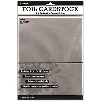 Inkssentials Foil Cardstock 3/Pkg - Silver 8.5