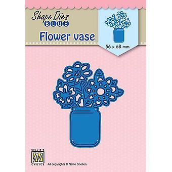 Nellie's Scelta Forma Die Fiore vaso SDB081 56x68mm