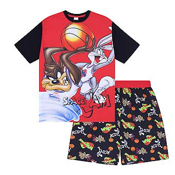 Looney Tunes Space Jam Taz Daffy Duck Elmer Fudd Official Mens Short Pyjamas