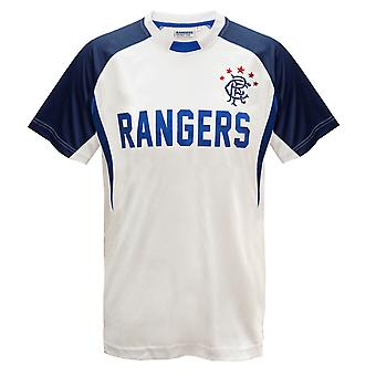 Rangers FC Official Football Gift Boys Poly Training Kit T-Shirt