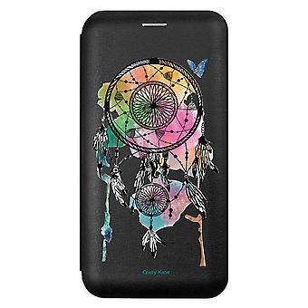 Fall für iPhone 11 schwarz Muster fängt Traum und Schmetterling