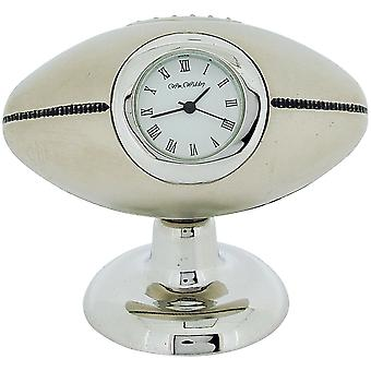 Miniature Free Standing Rugby Ball Novelty Collectors Desktop Clock 9647S