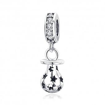 Sterling Silver Pendant Charm Baby Pacifier - 5797