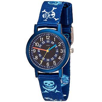Niños JOBO Reloj niño de pirata cuarzo azul aluminio niño reloj