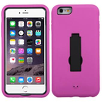 ASMYNA Symbiosis Case with Stand for Apple iPhone 6s/6 Plus - Black/Hot Pink