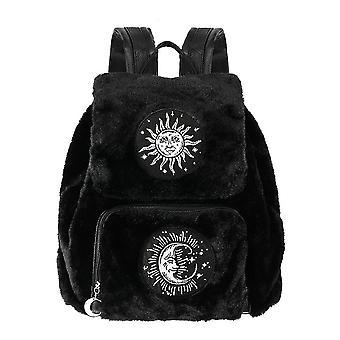 Restyle - moon & sun backpack - black gothic fur bag