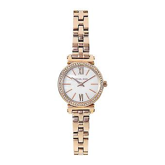 Michael Kors Watches Mk3834 Sofie Crystal And Mother Of Pearl Rose Gold Stainless Steel Ladies Watch