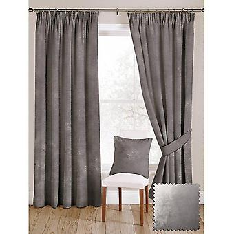 Mcalister textiles shiny silver crushed velvet curtains