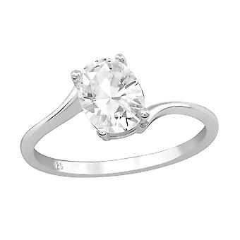 Oval - 925 Sterling Silber jeweled Ringe - W27269x