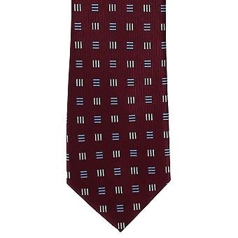 Michelsons of London Dash Diamonds Polyester Tie - Wine
