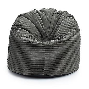 Loft 25 � | Luxurious 'Walrus' Soft Jumbo Cord Classic Bean Bag Lounger (Charcoal)