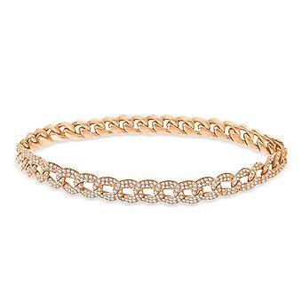 Anklet Pave Diamanter 18K Guld - Rose Guld