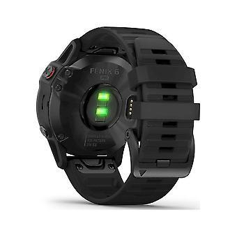 Garmin - SmartWatch - - fenix 6 PRO Black Silicone Bracelet 22mm Black