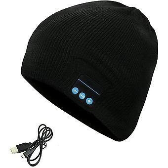 Sony Xperia 10 Plus (Black) Bluetooth Beanie Music Hat Stereo Speaker Microphone