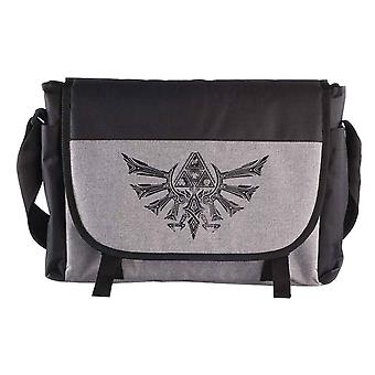 Zelda Messenger Bag Hyrule Crest logo nouvelle Nintendo Grey officielle