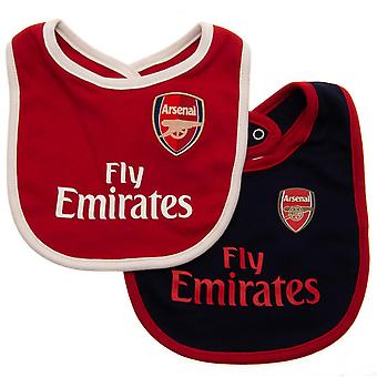 Arsenal FC Fly Emirates Baby Bibs (Pack Of 2)